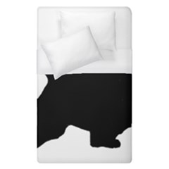 English Springer Spaniel Silo Black Duvet Cover (Single Size)