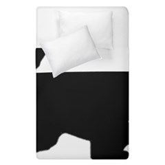 English Springer Spaniel Silo Black Duvet Cover Double Side (Single Size)