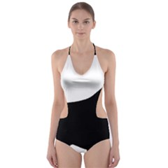 English Springer Spaniel Silo Black Cut-Out One Piece Swimsuit
