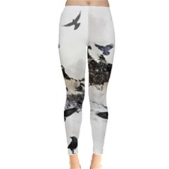 Birds Crows Black Ravens Wing Leggings