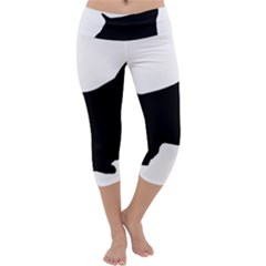 English Springer Spaniel Silo Black Capri Yoga Leggings