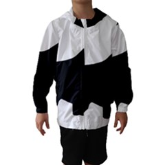 English Springer Spaniel Silo Black Hooded Wind Breaker (Kids)