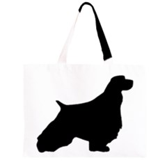 English Springer Spaniel Silo Black Large Tote Bag