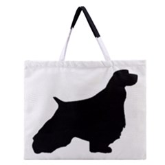 English Springer Spaniel Silo Black Zipper Large Tote Bag
