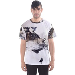 Birds Crows Black Ravens Wing Men s Sport Mesh Tee