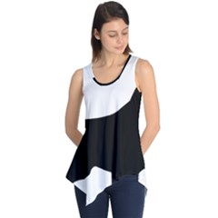 English Springer Spaniel Silo Black Sleeveless Tunic