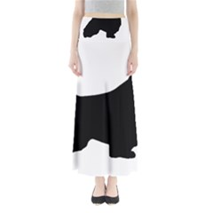 English Springer Spaniel Silo Black Maxi Skirts