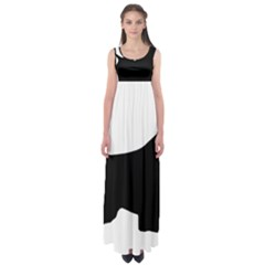 English Springer Spaniel Silo Black Empire Waist Maxi Dress