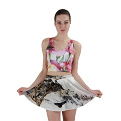 Birds Crows Black Ravens Wing Mini Skirt