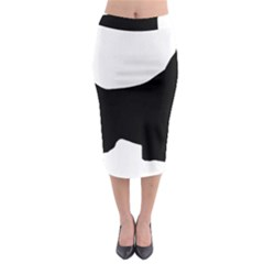 English Springer Spaniel Silo Black Midi Pencil Skirt