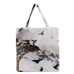 Birds Crows Black Ravens Wing Grocery Tote Bag
