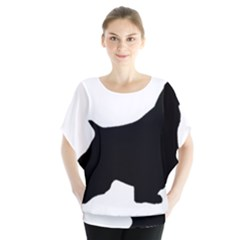 English Springer Spaniel Silo Black Blouse