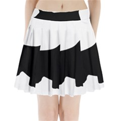 English Springer Spaniel Silo Black Pleated Mini Skirt