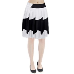 English Springer Spaniel Silo Black Pleated Skirt