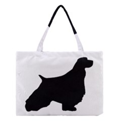 English Springer Spaniel Silo Black Medium Tote Bag
