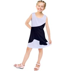 English Springer Spaniel Silo Black Kids  Tunic Dress