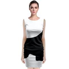 English Springer Spaniel Silo Black Sleeveless Velvet Midi Dress