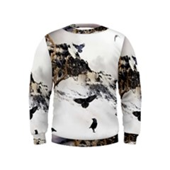 Birds Crows Black Ravens Wing Kids  Sweatshirt