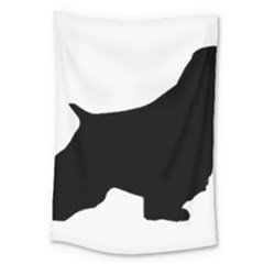 English Springer Spaniel Silo Black Large Tapestry