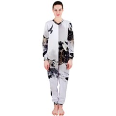 Birds Crows Black Ravens Wing Onepiece Jumpsuit (ladies)