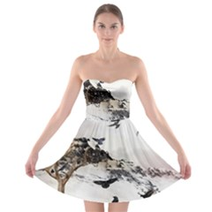 Birds Crows Black Ravens Wing Strapless Bra Top Dress