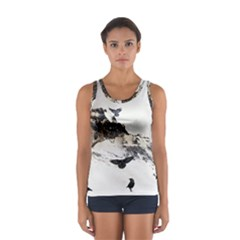 Birds Crows Black Ravens Wing Women s Sport Tank Top