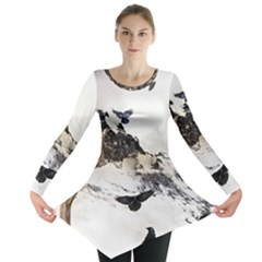 Birds Crows Black Ravens Wing Long Sleeve Tunic