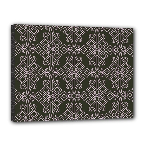 Line Geometry Pattern Geometric Canvas 16  x 12