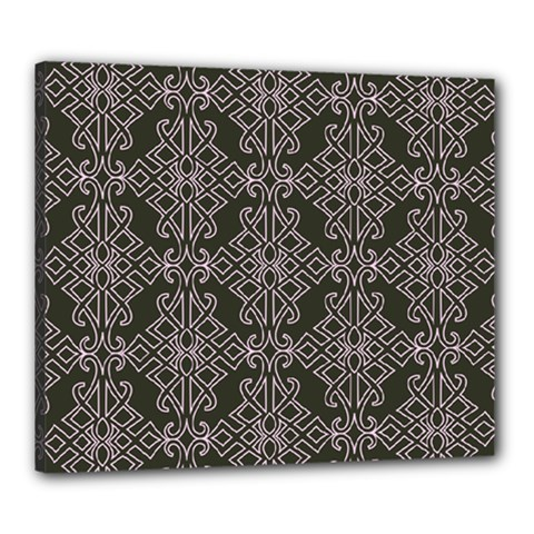 Line Geometry Pattern Geometric Canvas 24  x 20