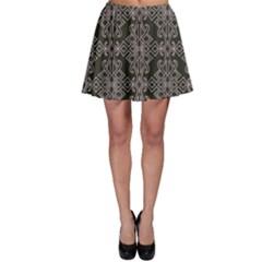 Line Geometry Pattern Geometric Skater Skirt