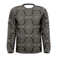 Line Geometry Pattern Geometric Men s Long Sleeve Tee