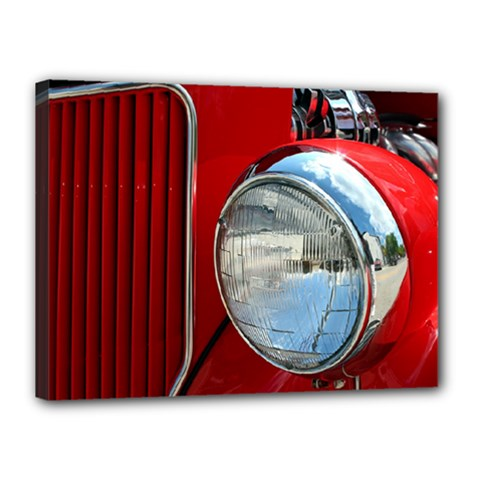 Antique Car Auto Roadster Old Canvas 16  x 12