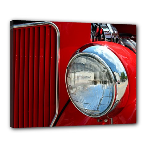 Antique Car Auto Roadster Old Canvas 20  X 16