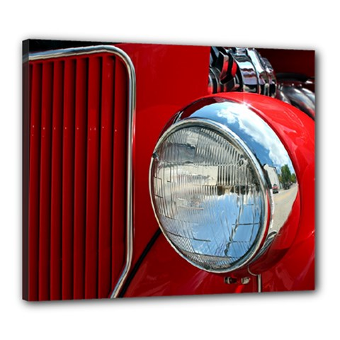 Antique Car Auto Roadster Old Canvas 24  x 20