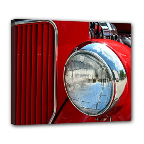 Antique Car Auto Roadster Old Deluxe Canvas 24  x 20