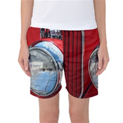 Antique Car Auto Roadster Old Women s Basketball Shorts
