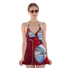 Antique Car Auto Roadster Old Halter Swimsuit Dress