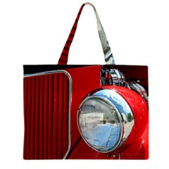 Antique Car Auto Roadster Old Zipper Large Tote Bag