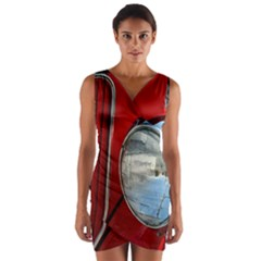 Antique Car Auto Roadster Old Wrap Front Bodycon Dress