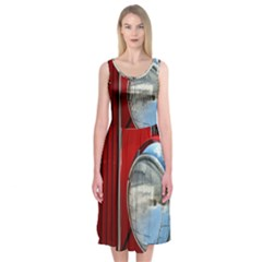 Antique Car Auto Roadster Old Midi Sleeveless Dress
