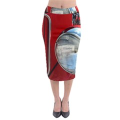 Antique Car Auto Roadster Old Midi Pencil Skirt