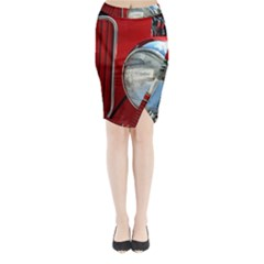 Antique Car Auto Roadster Old Midi Wrap Pencil Skirt