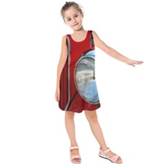 Antique Car Auto Roadster Old Kids  Sleeveless Dress