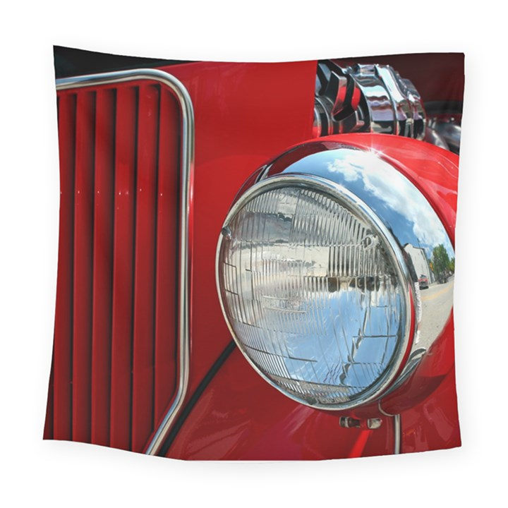Antique Car Auto Roadster Old Square Tapestry (Large)