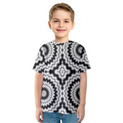 Pattern Tile Seamless Design Kids  Sport Mesh Tee