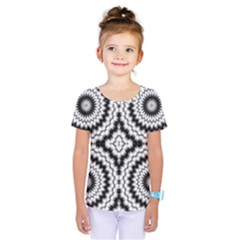 Pattern Tile Seamless Design Kids  One Piece Tee