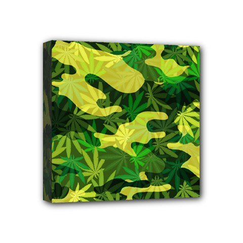 Marijuana Camouflage Cannabis Drug Mini Canvas 4  X 4