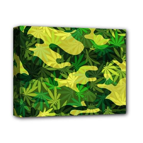 Marijuana Camouflage Cannabis Drug Deluxe Canvas 14  X 11