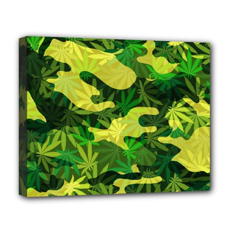 Marijuana Camouflage Cannabis Drug Deluxe Canvas 20  X 16