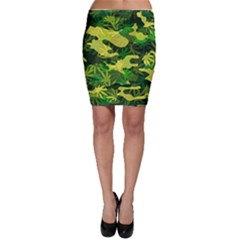 Marijuana Camouflage Cannabis Drug Bodycon Skirt